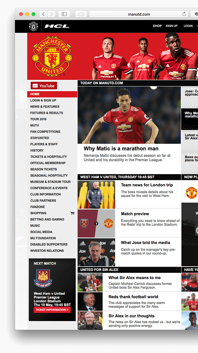 Mufc Homepage Screen